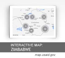 Interactive Map: Zimbabwe map.usaid.gov
