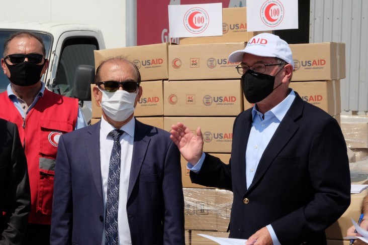 USAID Supports Delivery of Food and Hygiene Supplies for 3,500 Vulnerable Families by Azerbaijan Red Crescent Society