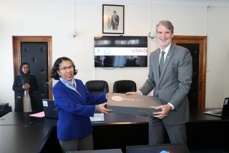 USAID's donation of computer equipment will improve Madagascar's financial management.