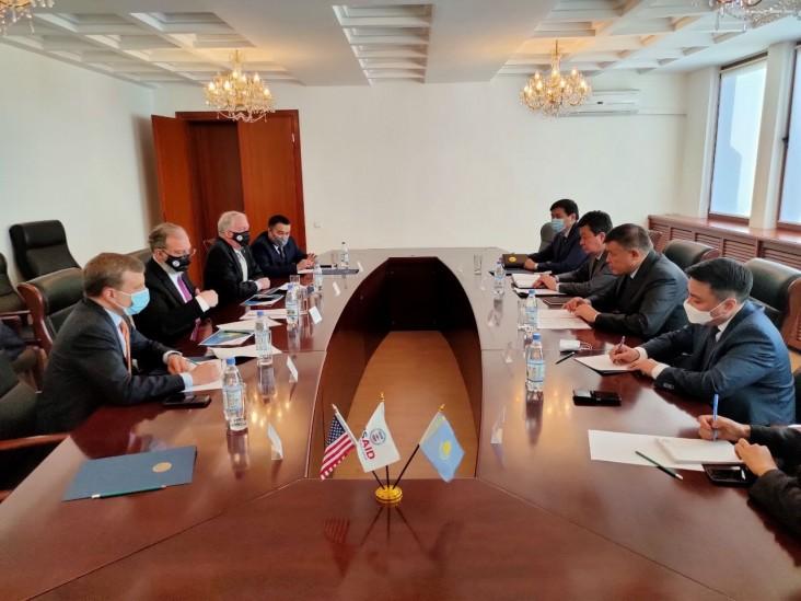 Representatives from the U.S. Mission to Kazakhstan meeting with Ministry of Foreign Affairs officials