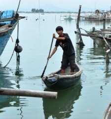 Coastal fishing villages in central Vietnam face natural hazards from stormy weather.