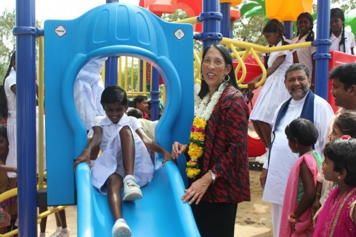 U.S.  Funds Renovation of Children's Park in Kilinochchi