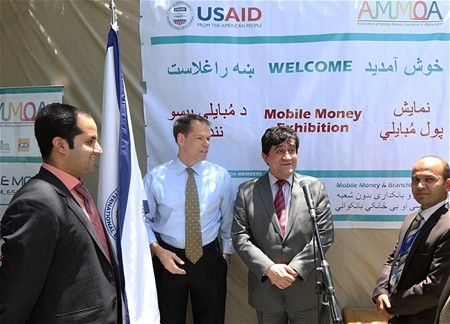 Da Afghanistan Breshna Sherkat (DABS) Chief Executive Officer, Abdul Razeq Samadi, and Larry Sampler, USAID Office of Afghanista