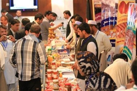 Afghan food processing companies displayed more than 80 locally produced, high-quality products at an exhibition in Kabul