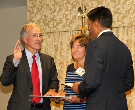 William Hammink was sworn in as the U.S. Agency for International Development Mission Director to Afghanistan in Washington D.C.