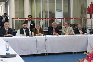 USAID Mission Director, Bill Hammink (first from the left) and other participants of the recent Donor Pledging Conference at the