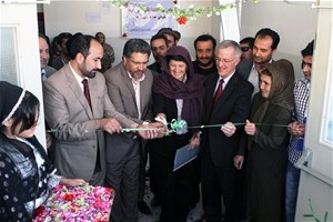 (From the Left) Director of Kabul Education Department Mohammad Mansoor, Minister of Education Dr. Farooq Wardak, USAID Assistan