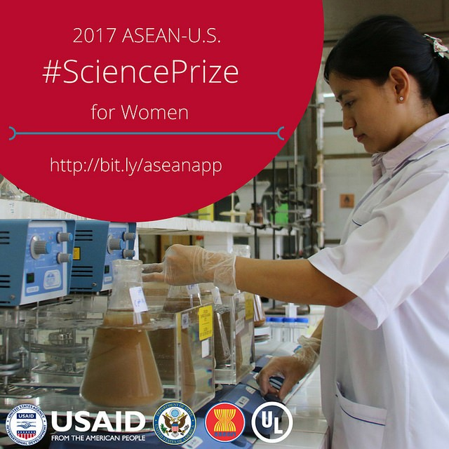 The third annual ASEAN-U.S. Science Prize for Women will award a talented, early career woman from the ASEAN region working in applied science.