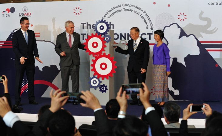 U.S. and Thai officials celebrate decades of cooperation on development at the 5th TICA Connect event, with U.S. Embassy and USAID staff.