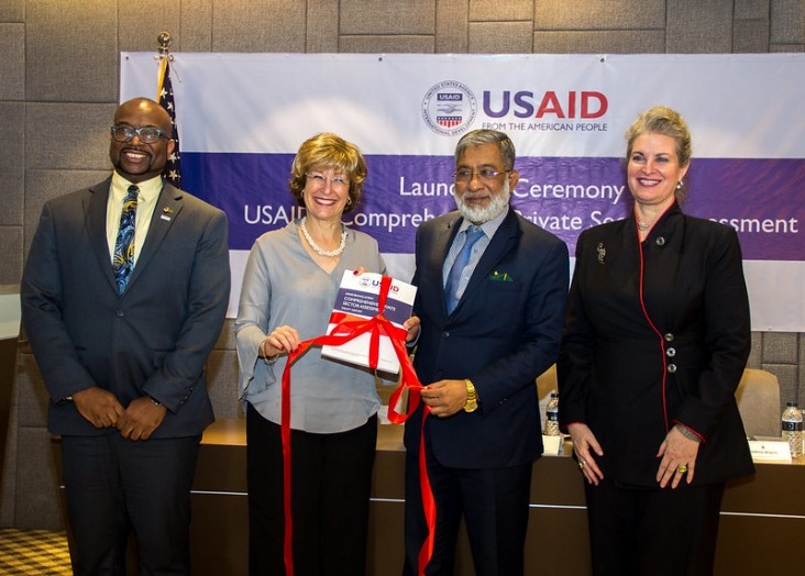 Deputy Administrator Bonnie Glick unveils USAID's Comprehensive Private Sector Assessment in Dhaka.