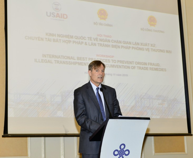 USAID/Vietnam Mission Director Michael Greene gives opening remarks at the event.
