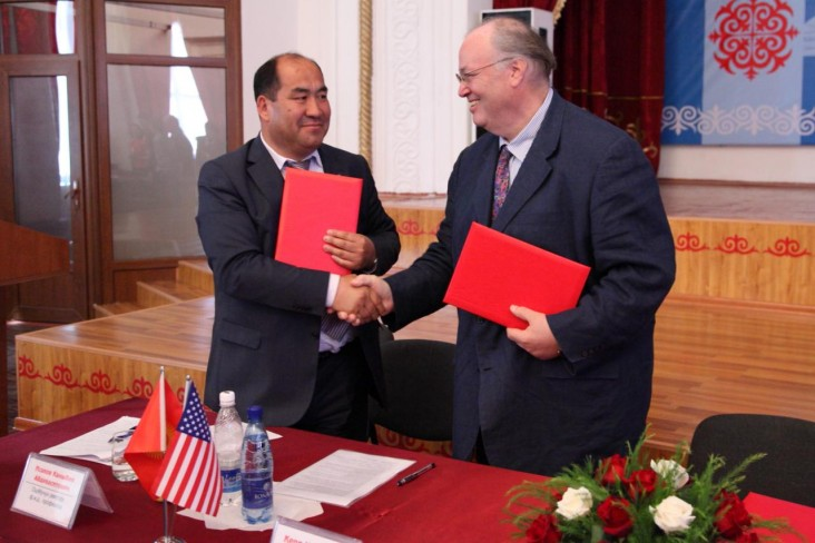 Carey N. Gordon, USAID Representative to the Kyrgyz Republic presented two grants to the Osh University