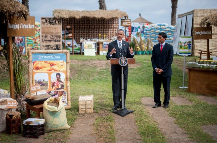 President Obama makes remarks at the agricultural technology marketplace