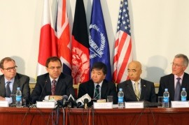 USAID Mission Director William Hammink (R) among with other officials attended this event in Kabul.