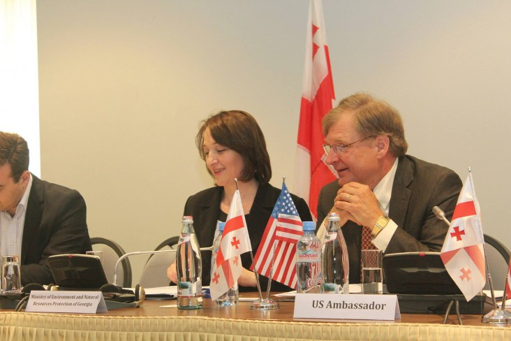 Ambassador Richard Norland with Minister of Environment Khatuna Gogaladze