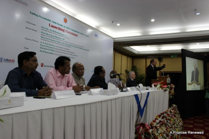 Ambassador Dan Mozena spoke at Bangladesh's Call to Action launch