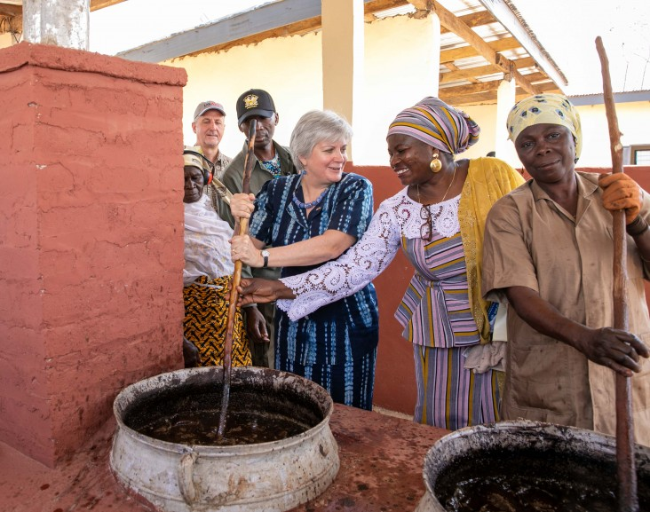 Shea Success in West Africa: Ambassador promotes women's economic development with new shea processing center in Northern Ghana