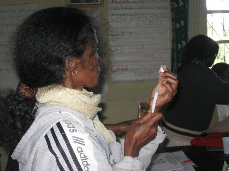 Community health worker trained in contraceptives injection