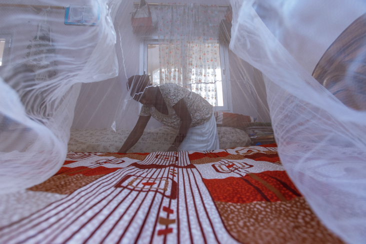 The bed net distribution is a critical component of PMI support to control malaria