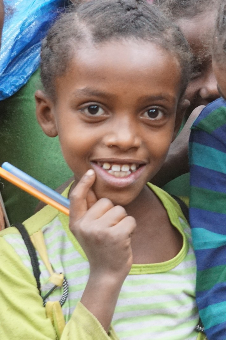 A girl at the Soke Bukicha Primary School in Oromia Region. She is one of 2.8 million children in drought affected areas who rec