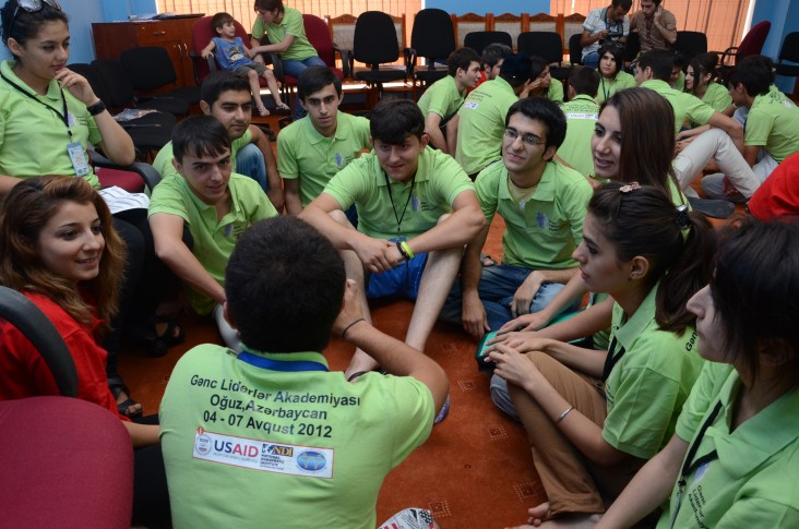 Azerbaijan's youth leaders developing teamwork and collaboration skills