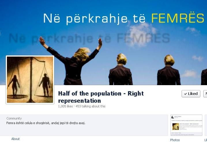 In support of Women, Half of the population - right representation