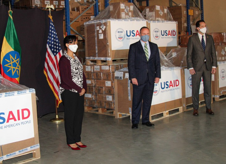 Image of Ethiopian minister of health and US Ambassador and USAID Ethiopia Mission Director