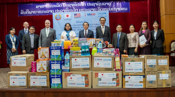 Handover Ceremony of the USAID-funded Hygiene and Recreational Kits