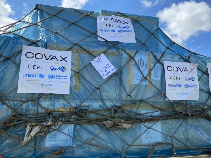 250,000 doses of the Covishield COVID-19 vaccine arrived on May 8.