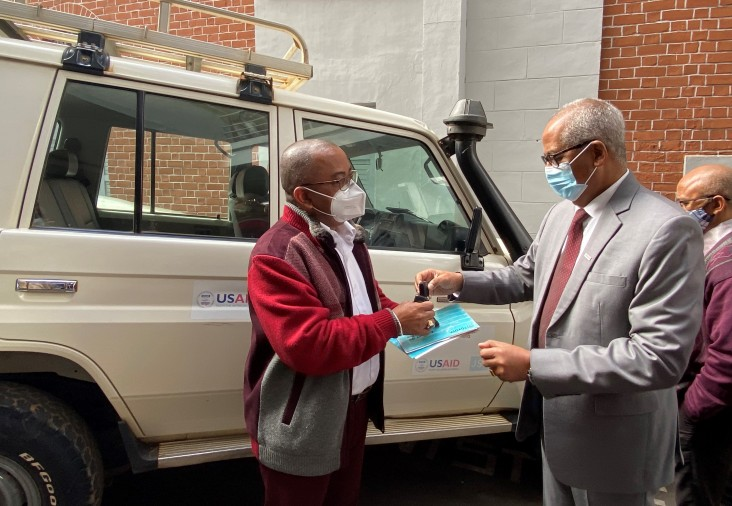 USAID is transferring some equipment to the Ministry of Public Health to ensure the continued effective delivery of health services
