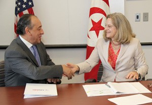 Today, the United States and Tunisia signed a loan guarantee agreement which will allow Tunisia to access up to $500 million in