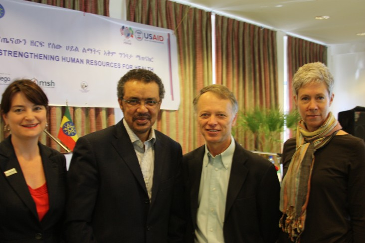 Jhpiego, Ministry of Health, and USAID officials at the launch of the HRH program