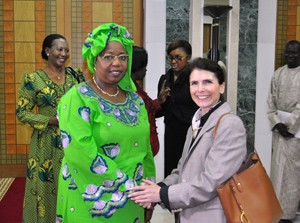 USAID Deputy Assistant Administator for Global Health Katie Taylor meets Minister of Health and Social Action Prof. Awa Marie Co