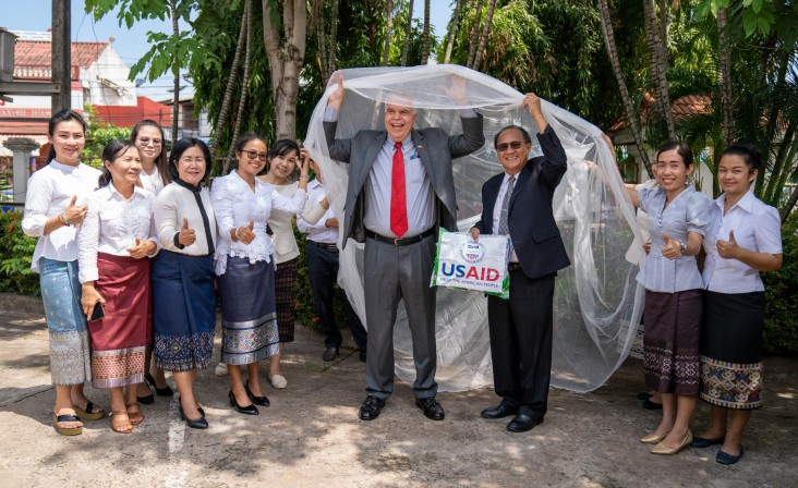 Ambassador Haymond joined Government of Laos officials at Handover Ceremony of the Long Lasting Insecticide Treated Nets