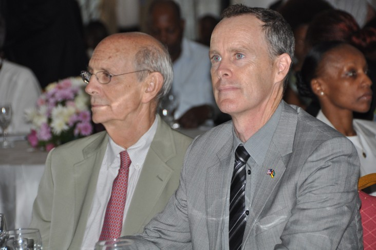 Supreme Court Justice Breyer and U.S. Ambassador to Mozambique Douglas Griffiths opened the media program in Maputo