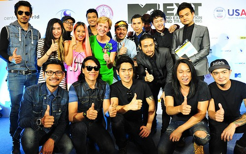 U.S. Ambassador to Thailand Kristie Kenney with artists set to perform at the March 15th concert.