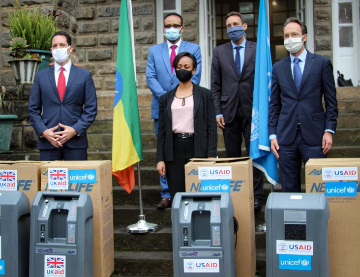 Image of oxygen concentrator equipment donation to Ethiopia