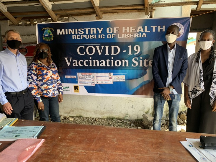 USAID Mission Director Tours COVID-19 Vaccination Sites, Encourages Liberians to Get Vaccinated