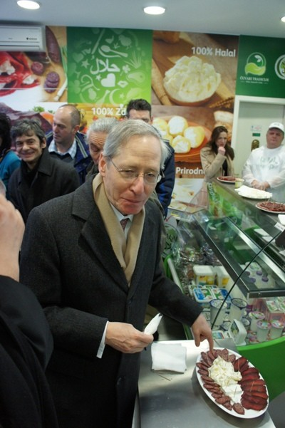 U.S. Ambassador to Serbia Michael Kirby at the opening of a Halal shop in Belgrade