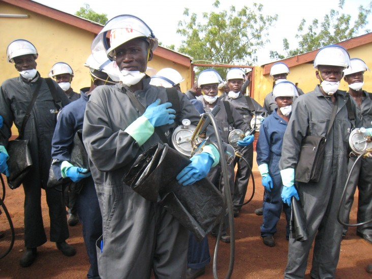 USAID Ghana Launches the 2014 Indoor Residual Spraying Program to Fight Malaria