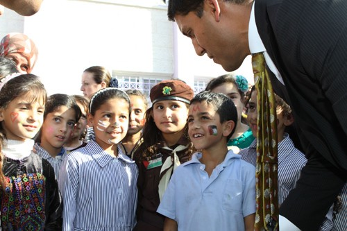Administrator Shah meets students in Harmala