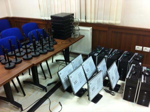 Audio recording equipment for courtroom