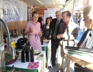 Following the awards ceremony, USAID/Albania Mission Director, Jim Barnhart, visited olive oil processors