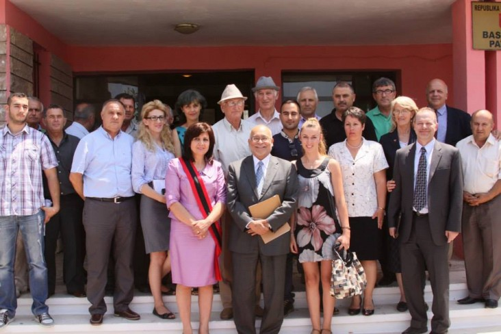 Ambassador Arvizu with Mayor of Patos and Citizen Advisory Panel members