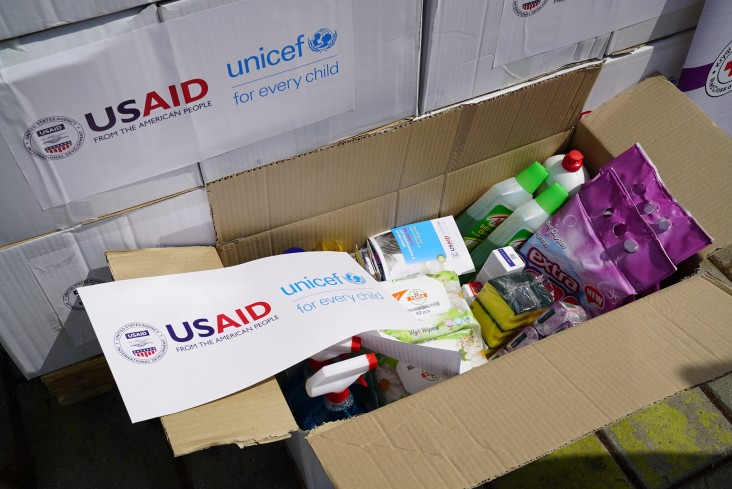 USAID supported hygenic kits