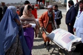 USAID recently contributed $30 million to provide food to vulnerable Afghans