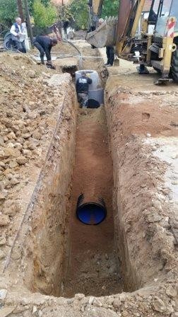 Construction of a New Sewage System