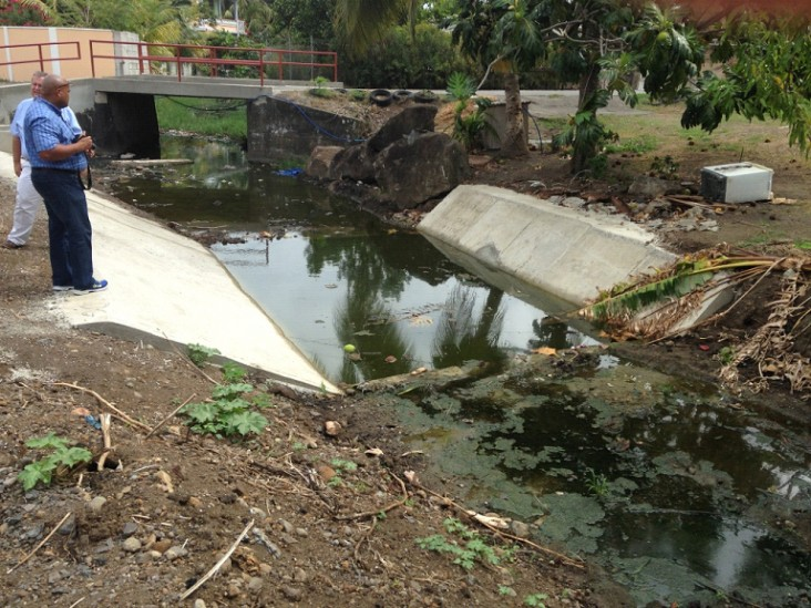 This Bridge Silt Trap was instrumental in averting low-level-village flooding in Mero during the passage of Tropical Storm Erika