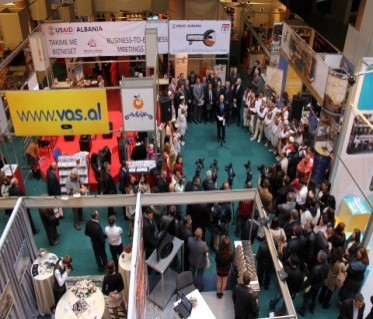 Tourism Albania Fair 2012 in Tirana, featuring some 300 exhibitors from Albania, Kosovo, Montenegro and Macedonia.
