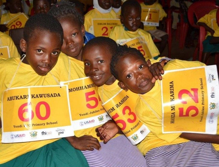 Pupils who took part in the Spelling Bee competition